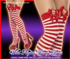 CHRISTMAS FANCY DRESS # RED / WHITE REINDEER STOCKINGS